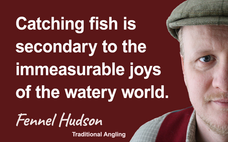 Catching fish. Fennel Hudson author quote