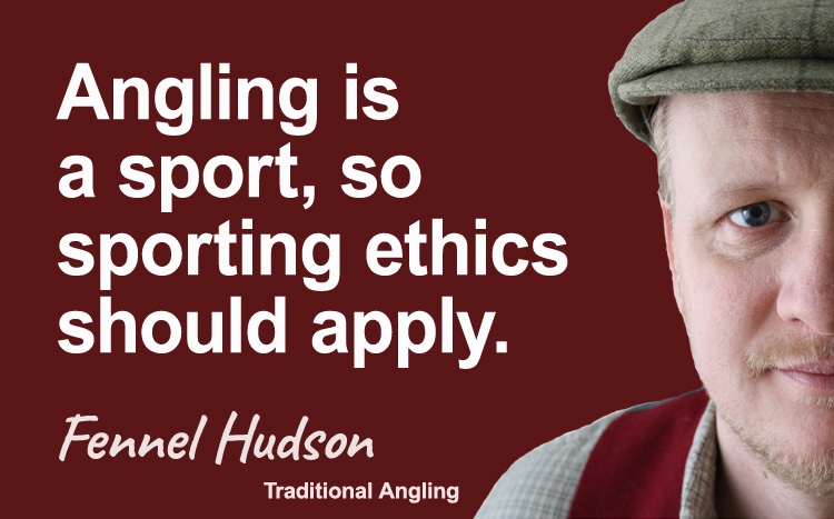 Angling sport. Fennel Hudson author quote