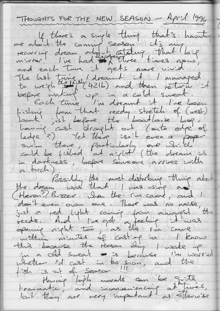 Fennel's Journal - the very first letter 1996