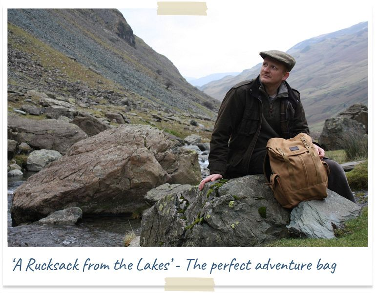 rucksack from the lakes - millican adventure bag
