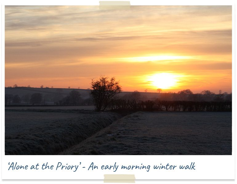 Alone at the priory - an early morning winter walk
