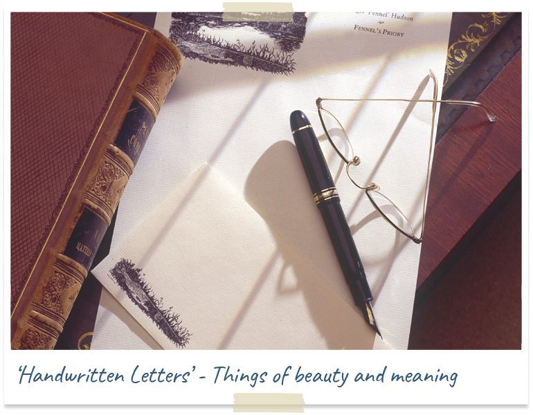 Handwritten letters - things of beauty and meaning