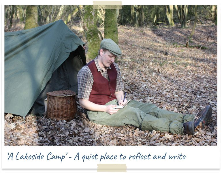 A lakeside camp - a quiet place to reflect and write
