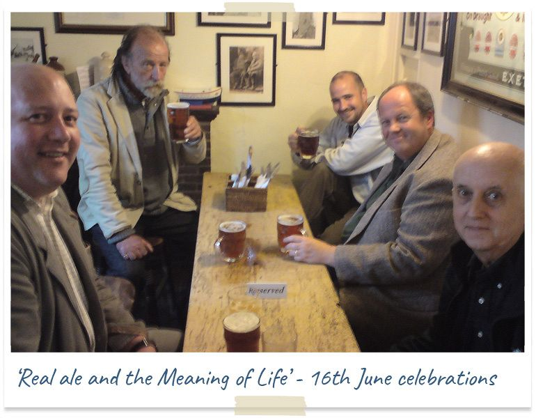 Real ale and the meaning of life - golden scale club 16 june